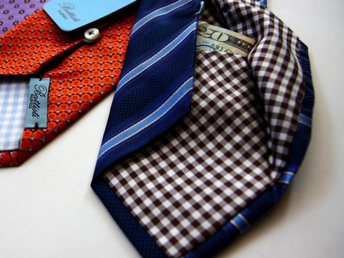 Hidden Pocket Tie by Battisti Napoli