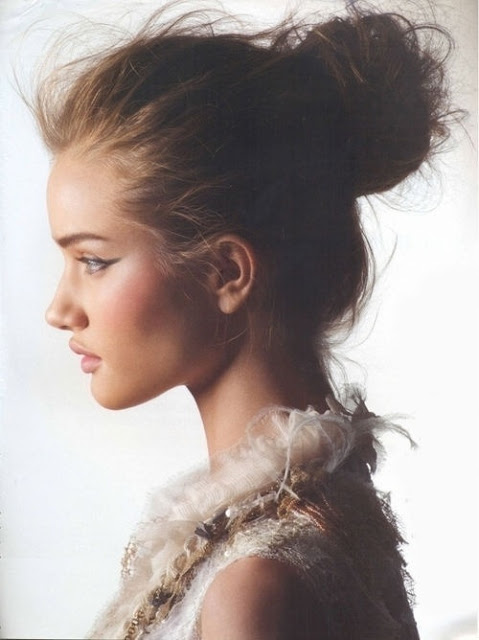 Messy Chignon Hairstyle