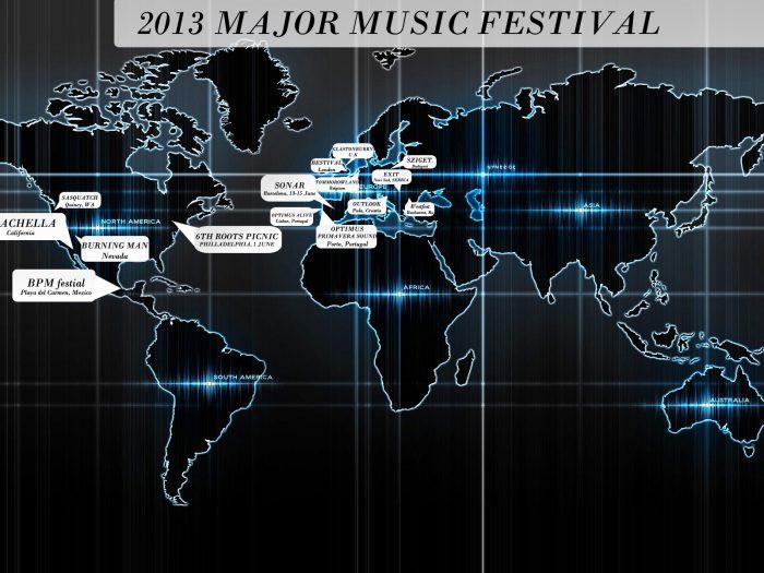 2013 MAJOR MUSIC FESTIVALS