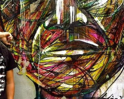 Nelson Mandela Graffiti tribute