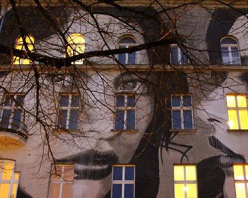 Mural by RONE in Berlin