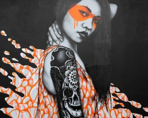 Fin DAC and Angelina Christina, Street artists