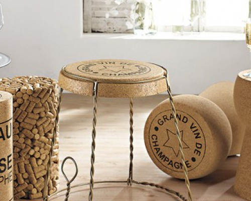 CHAMPAGNE CORK CAGE SIDE TABLE