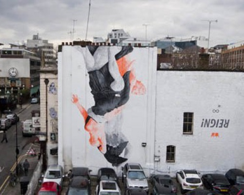 'REIGN' MURAL IN LONDON BY CYRCLE'REIGN' MURAL IN LONDON BY CYRCLE