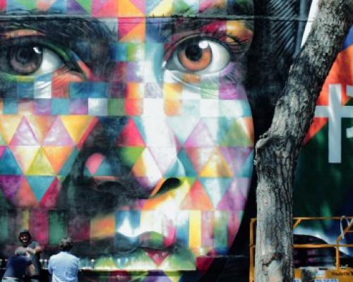 Eduardo Kobra wall dedicated to Malala Yousafzai at MAAM