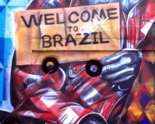 "Eduardo Kobra ""Welcome To Real Brazil"" New Mural"