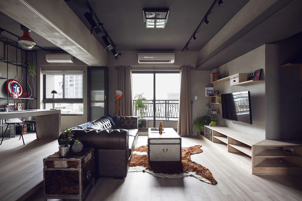 Industrial bachelor s apartment in taiwan the vandallist - A loft apartment bachelor pad ...