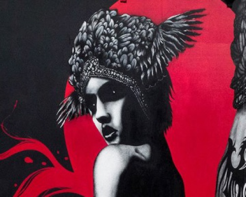 """Fin Dac and Eelus collaborates on """"Dark Angel, Deadly Dragon"""" in West London, UK"""
