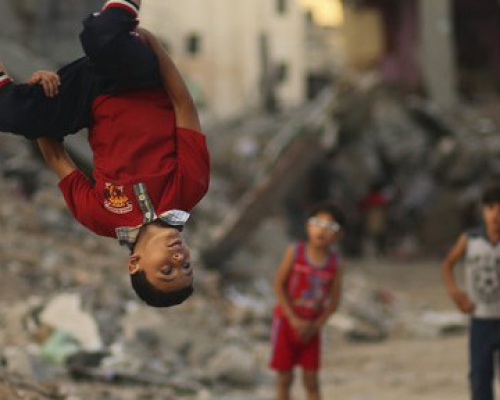 Parkour in Gaza War Zone