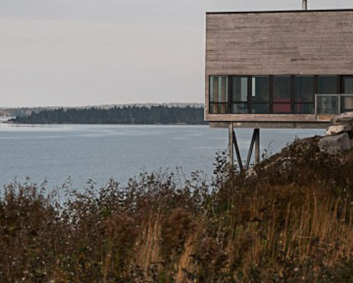A house on a cliff in Nova Scotia
