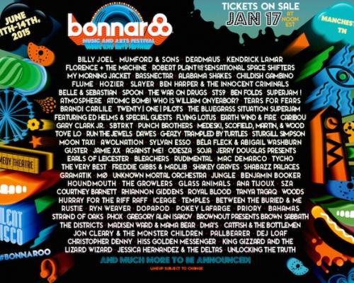 Bonnaroo Lineup Announcement 2015