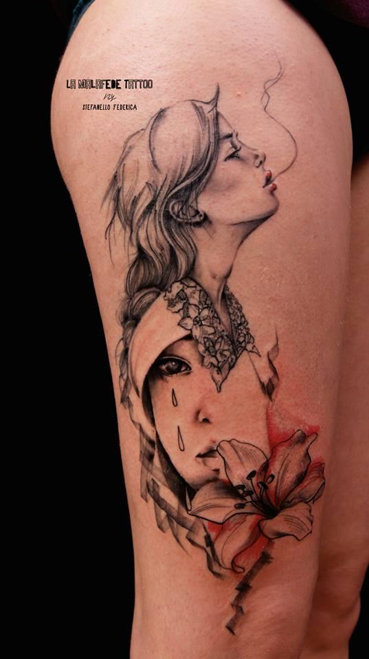 Federica Stefanello, tattoo artist (24)