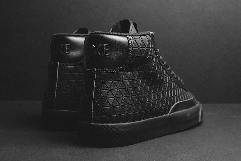 nike blazer mid metric qs (triple black) purse