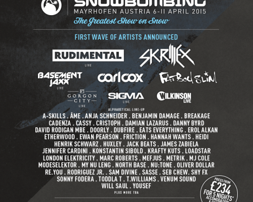 SNOWBOMBING 2015 FULL LINEUP