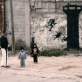 Banksy paints a new series of pieces in Gaza, Palestine (1)