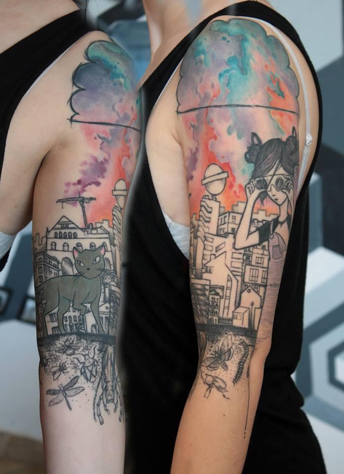 deathpop mole  tattoo artist