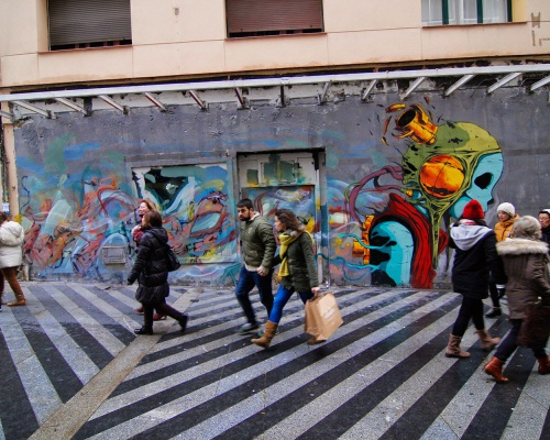 Deih and Laguna teamed up for a new mural in Madrid, Spain