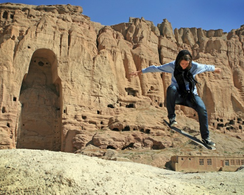 Skateboarding for the emancipated Afghan girls