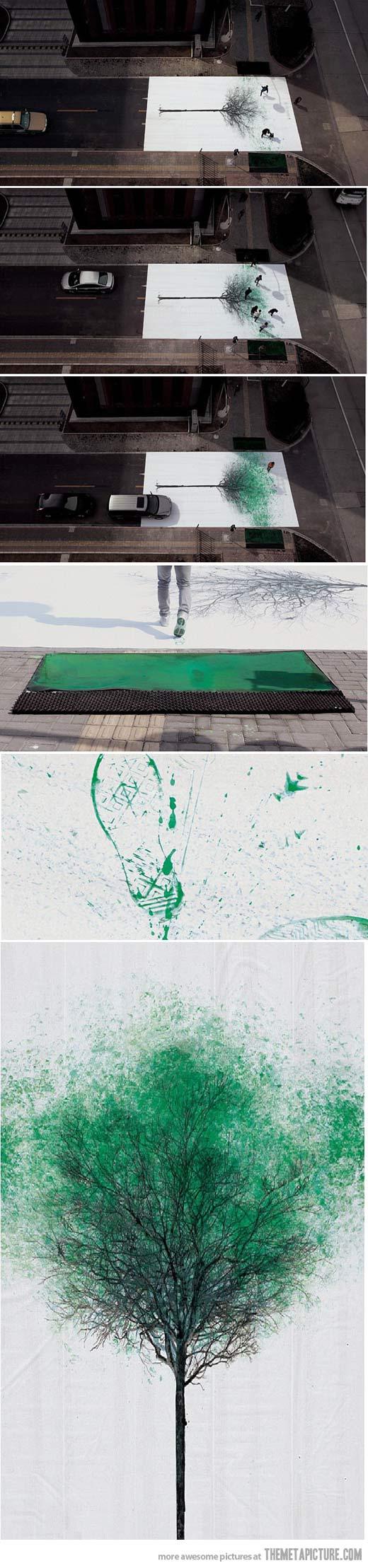 tree-street-art-footsteps-paint