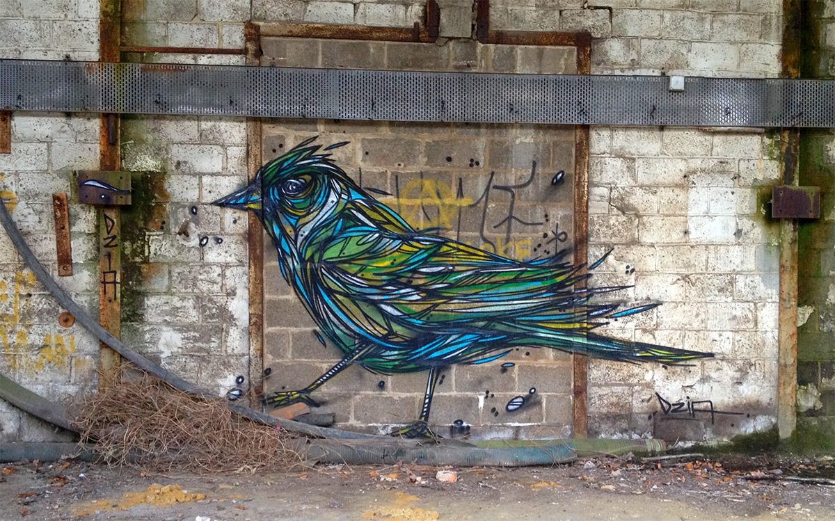 Graffiti of Animals and Insects on the Streets of Antwerp by 'Dzia' (3)