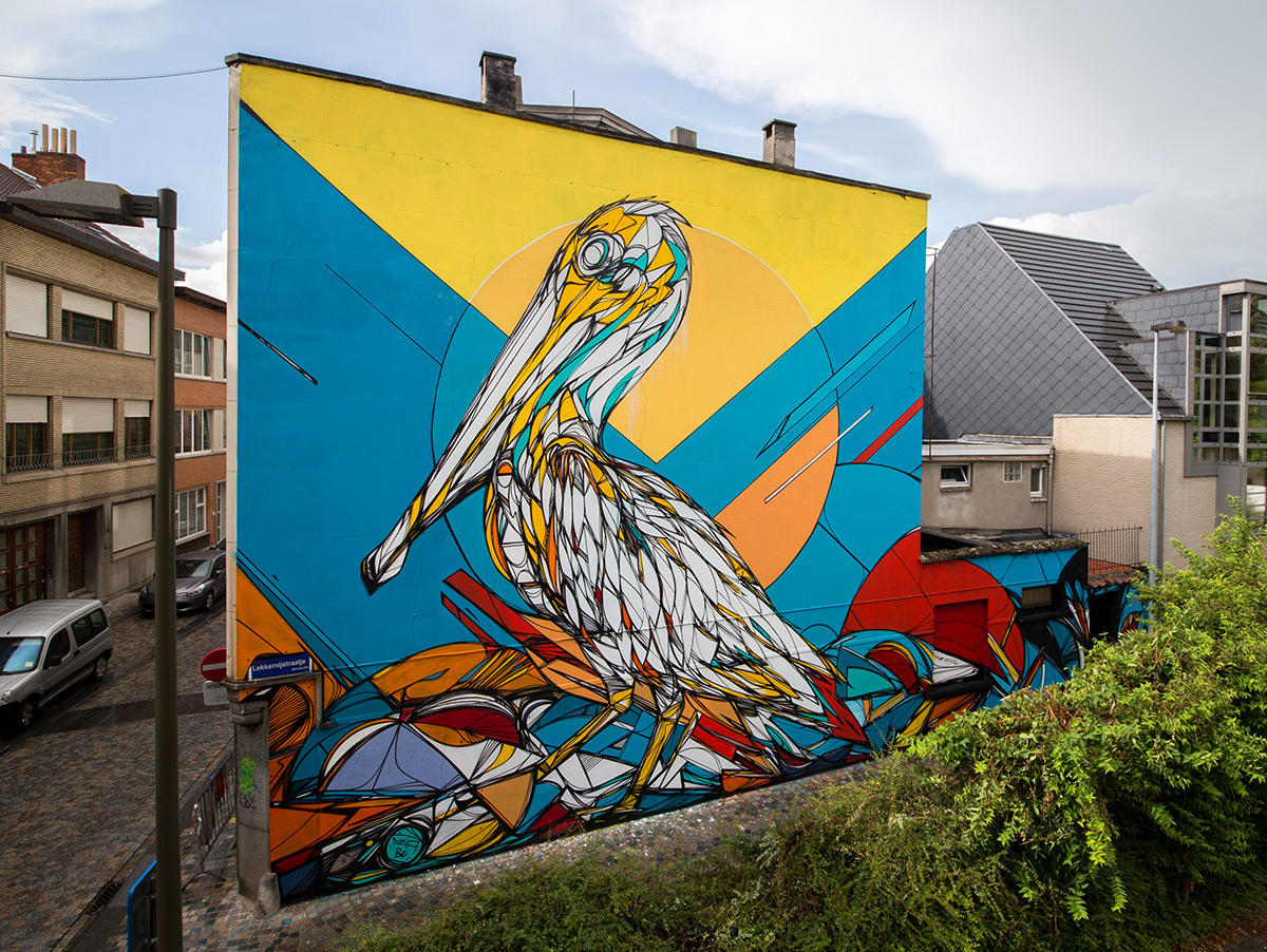Graffiti of Animals and Insects on the Streets of Antwerp by 'Dzia' (4)