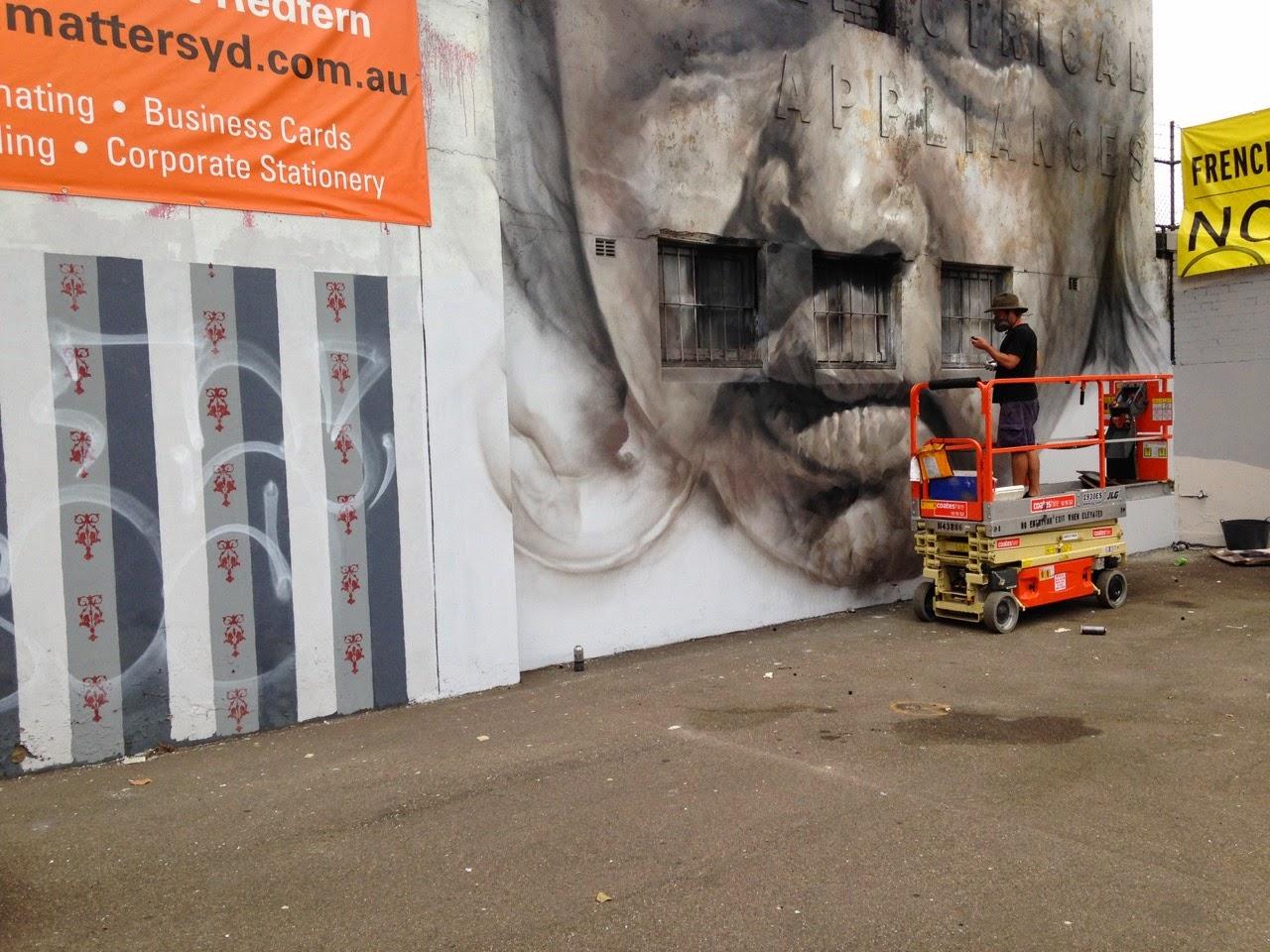 Guido Van Helten unveils a new portrait in Redfern, Australia (1)