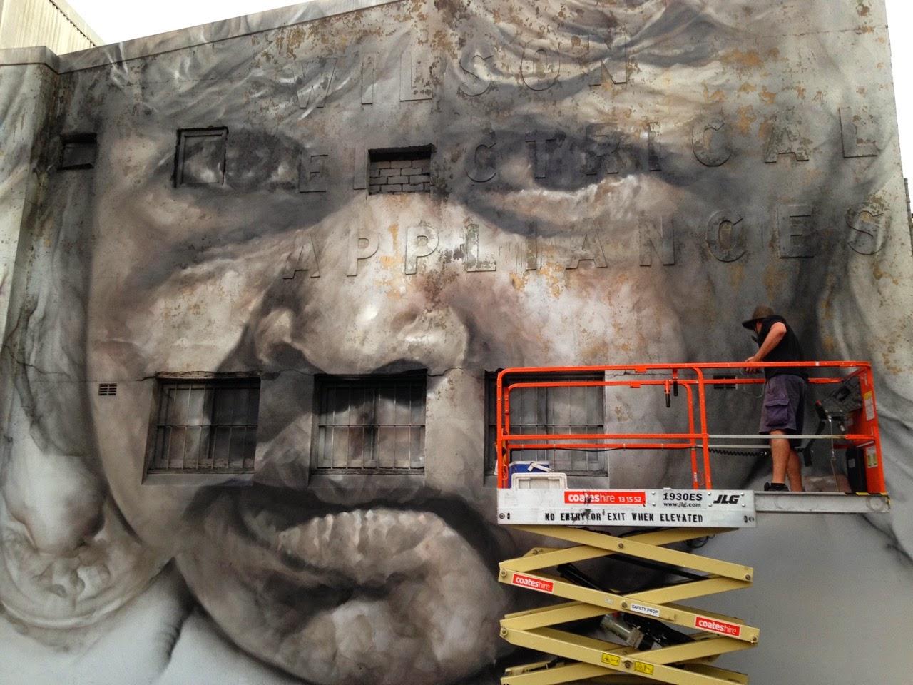 Guido Van Helten unveils a new portrait in Redfern, Australia (2)
