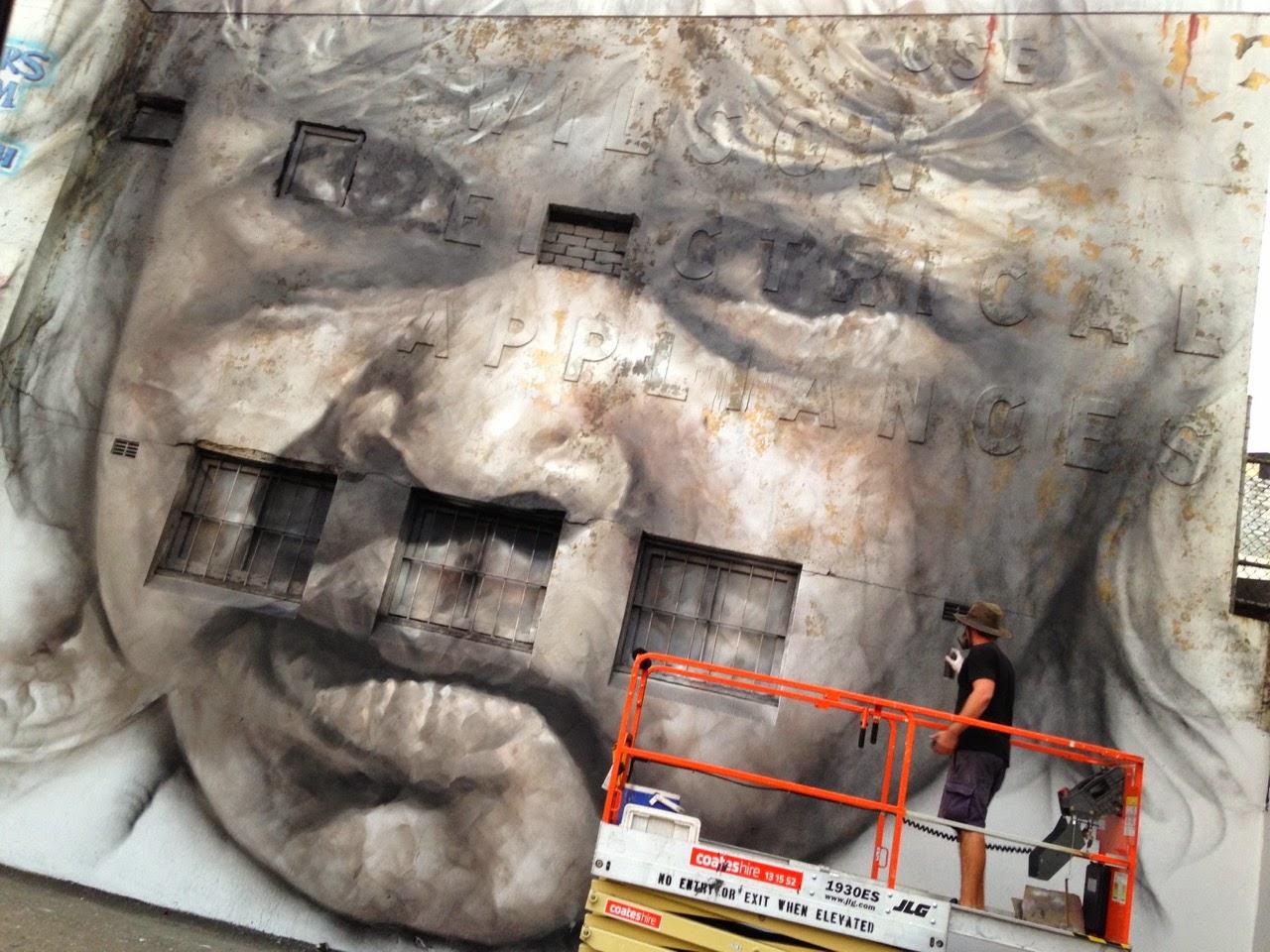 Guido Van Helten unveils a new portrait in Redfern, Australia (3)