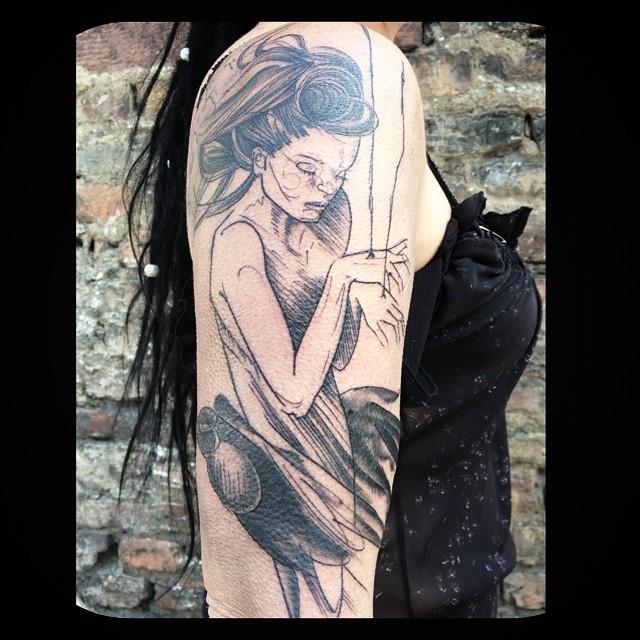 Melanie, Inky & Stretchy Tattoo (23)