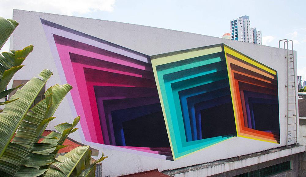 New Murals by '1010' Exhibit Hidden Portals of Color in Walls and Buildings (3)
