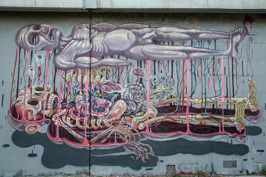 The Anatomy Of Cartoon Characters In Street Art The Vandallist