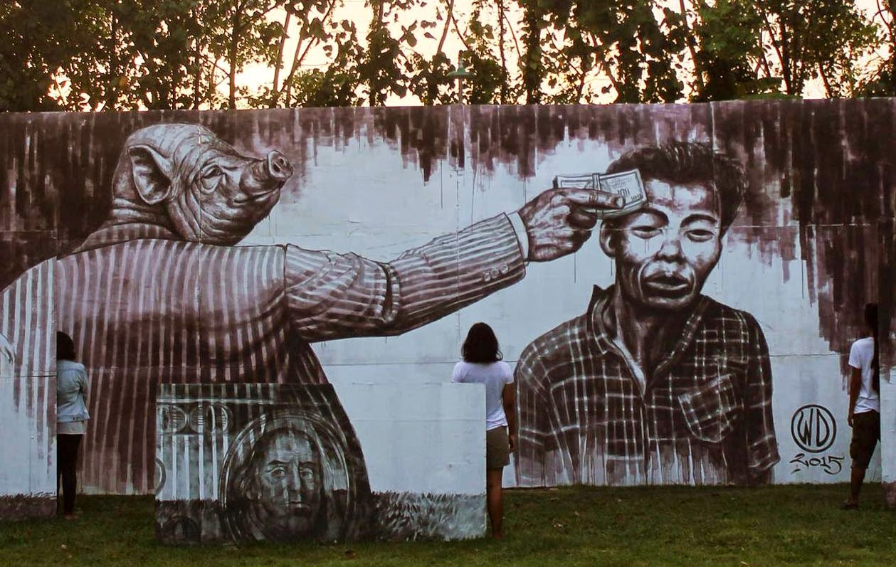 WD unveils Money Kills, a new mural in Bali, Indonesia (2)