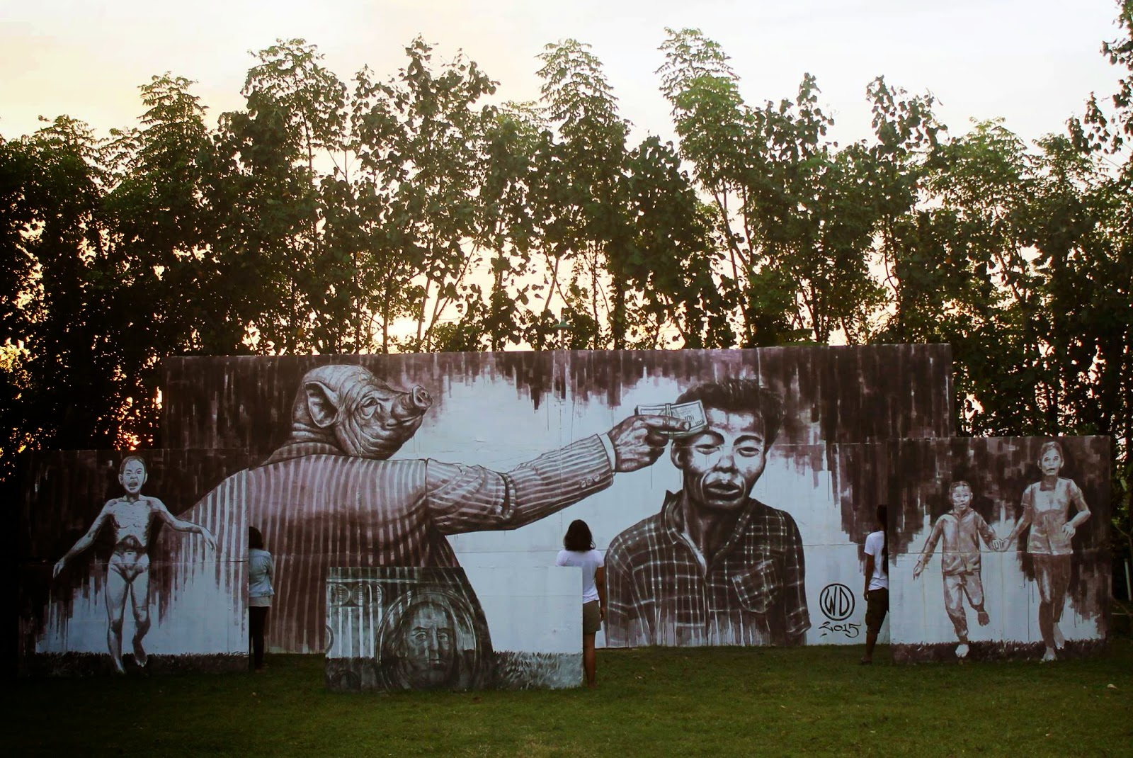 WD unveils Money Kills, a new mural in Bali, Indonesia (3)