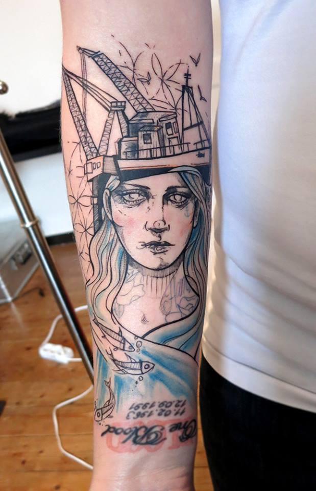 Anki Michler, tattoo artist (25)