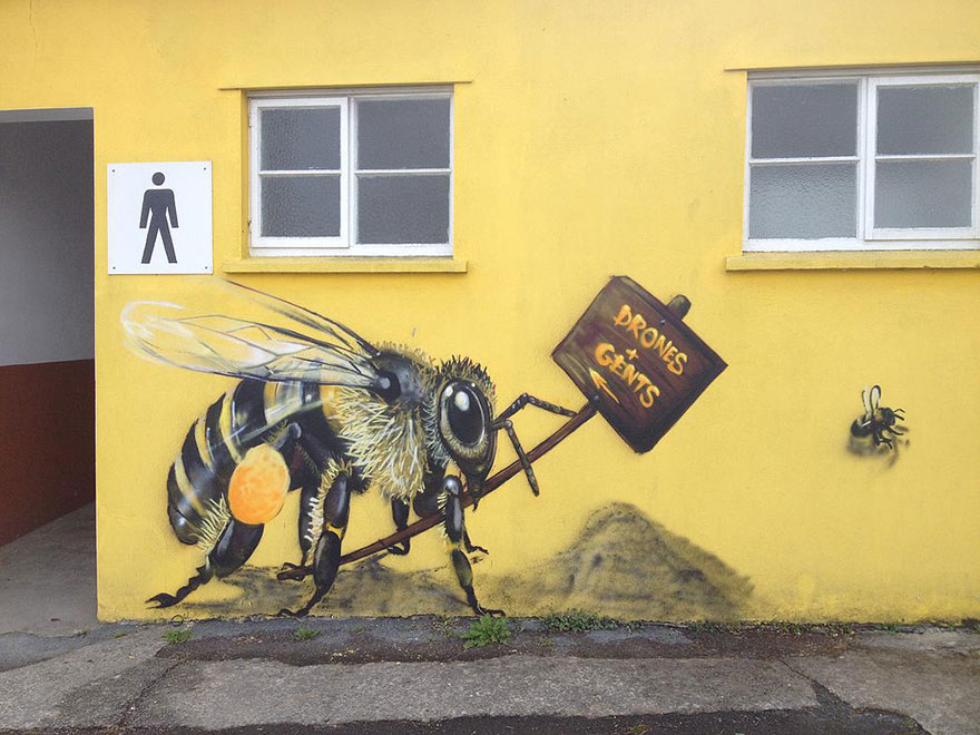 London Streets Painted With Bee Murals To Raise Awareness About Colony Collapse Disorder (1)
