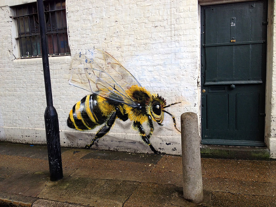 London Streets Painted With Bee Murals To Raise Awareness About Colony Collapse Disorder (9)