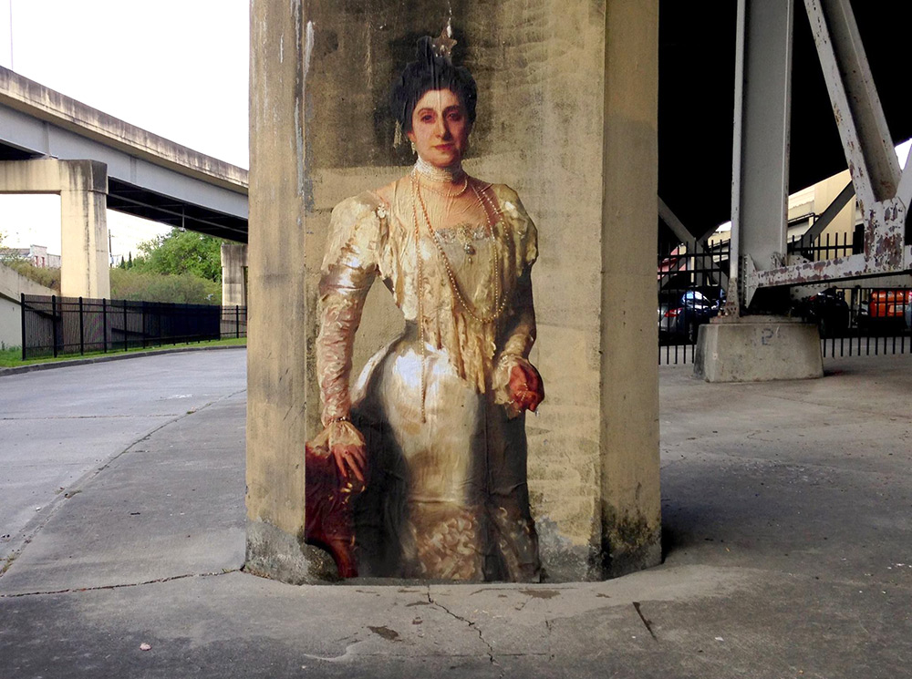 Released Paintings of Anonymous Figures out of Museums and onto the Streets through a Global Art Project (3)