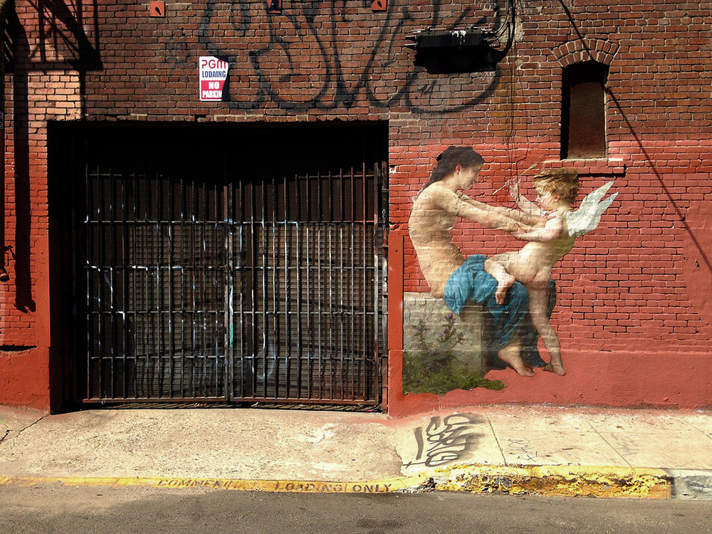 Released Paintings of Anonymous Figures out of Museums and onto the Streets through a Global Art Project (6)