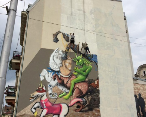 Bucharest Graffiti wiped out at the demand of the Romanian Church