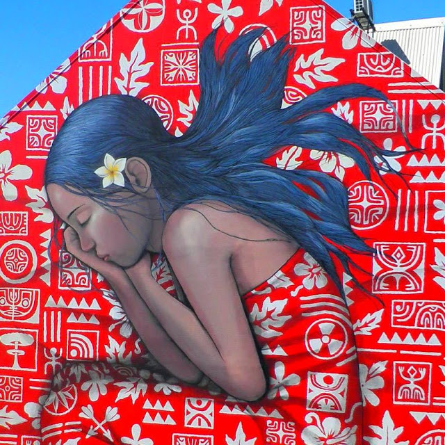 A new mural in Papeete, Tahiti by Seth Globepainter and HTJ (1)