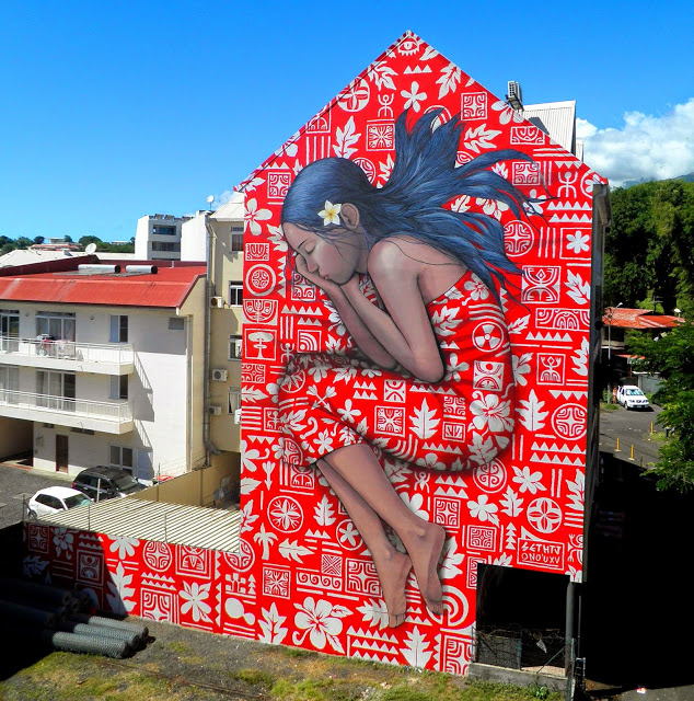 A new mural in Papeete, Tahiti by Seth Globepainter and HTJ (3)