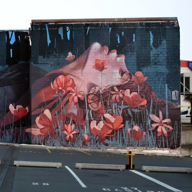 BEZT paints When The Hunter Becomes The Hunted in Dunedin, New Zealand (1)