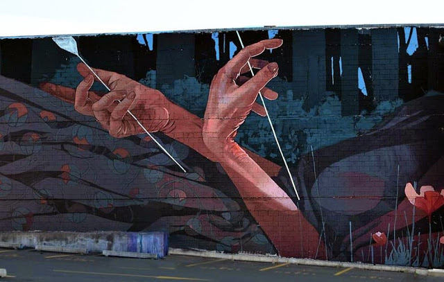 BEZT paints When The Hunter Becomes The Hunted in Dunedin, New Zealand (2)