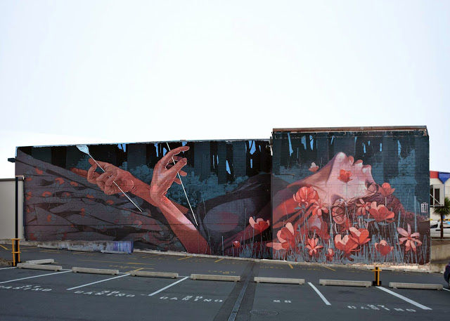 BEZT paints When The Hunter Becomes The Hunted in Dunedin, New Zealand (3)