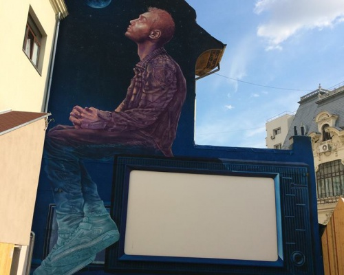 Sweet Damage Crew unveils a new piece in Bucharest, Romania