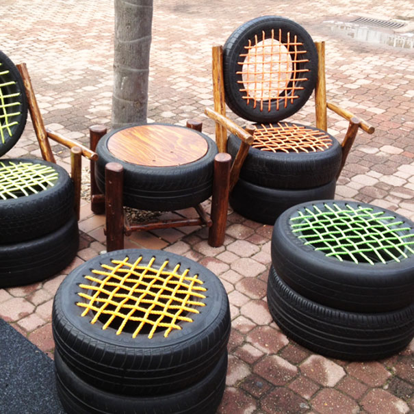Clever ways to redesign the use of old tires - the vandallist (6)