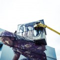 Fintan Magee paints Moving the Pointless Monument in Werchter, Belgium - THE VANDALLIST (4)
