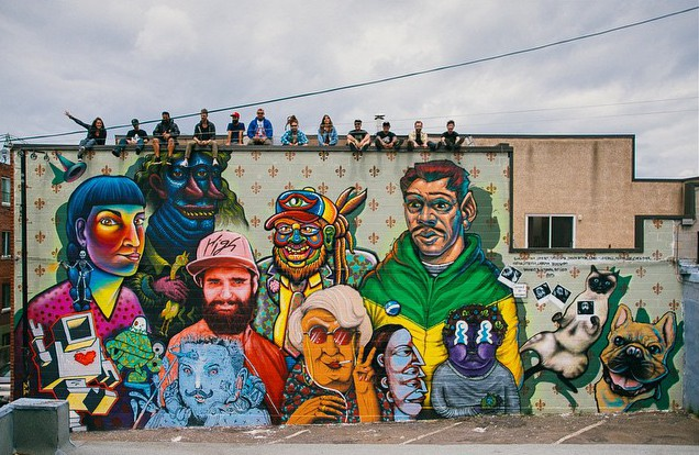 La Famille collaborative mural  VIDEO - the vandallist (5)