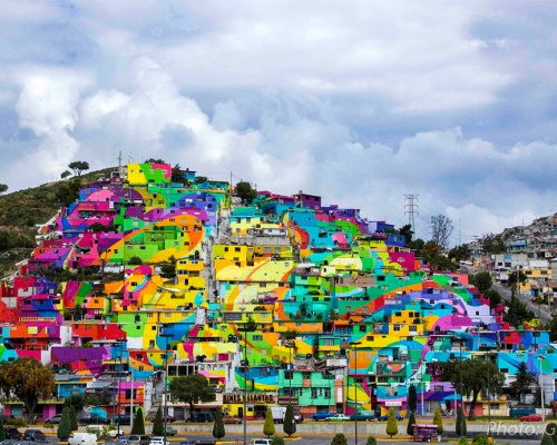 Germen crew Collaborate with Mexican Government for a giant piece in Pachuca, Mexico