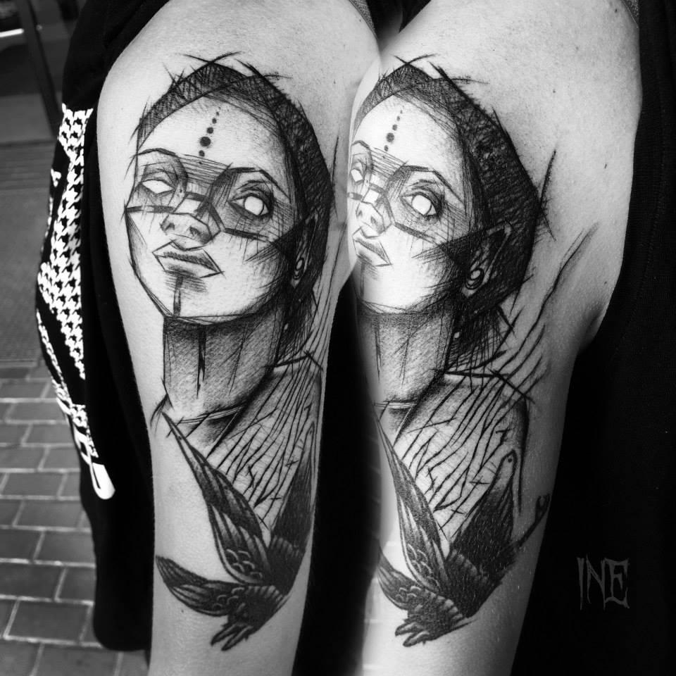 Inez Janiak, tattoo artist - the vandallist (1)